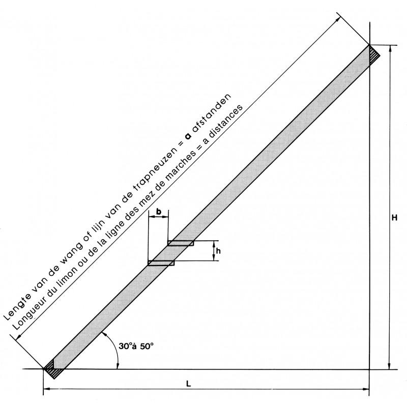 limon galvanis pr for 3m05 11 marches pour escalier droit. Black Bedroom Furniture Sets. Home Design Ideas
