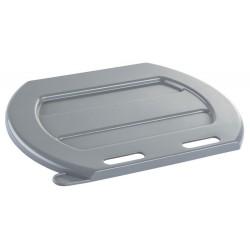 Couvercle pour seau à veau plastique gris 8 L