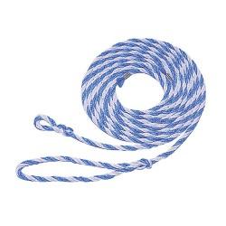 LONGE DE TRANSPORT bleu et blanc 3M20 avec petite boucle - KERBL