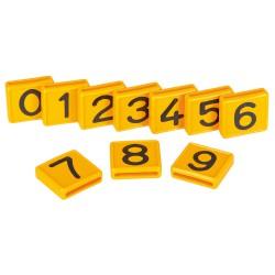 PLAQUETTE jaune numérotée pour Identification - PAR 10