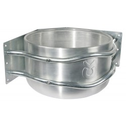 MANGEOIRE RONDE en aluminium MONTAGE en ANGLE