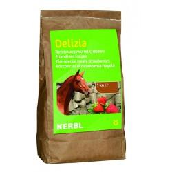 FRIANDISES DELIZIA pour chevaux et poneys - 1kg - saveur fraise