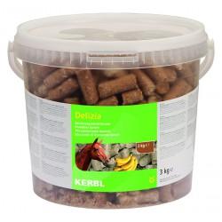 FRIANDISES DELIZIA pour chevaux et poneys - 3kg - saveur banane