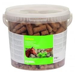 FRIANDISES DELIZIA pour chevaux et poneys - 3kg - saveur pomme