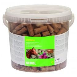 FRIANDISES DELIZIA pour chevaux et poneys - 3kg - saveur framboise