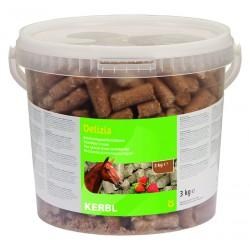 FRIANDISES DELIZIA pour chevaux et poneys - 3kg - saveur fraise