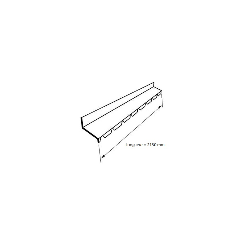 fa ti re crant e contre mur t le profil e bac acier ral7016 gris fonc. Black Bedroom Furniture Sets. Home Design Ideas