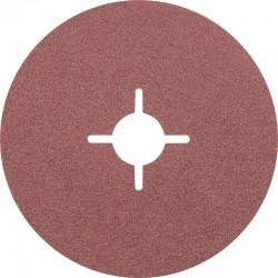 Disque Fibre abrasif pour meuleuse diamètre 125mm/22mm Grain 100 - PFERD - PAR 25