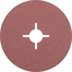 Disque Fibre abrasif pour meuleuse diamètre 125mm/22mm Grain 120 - PFERD - PAR 25