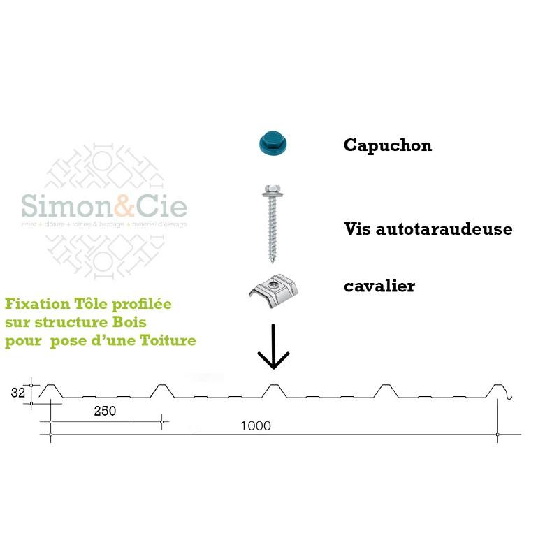 """Capuchon 3/8"""" pour vis autoforantes et vis autotaraudeuses - Par 100 pièces"""