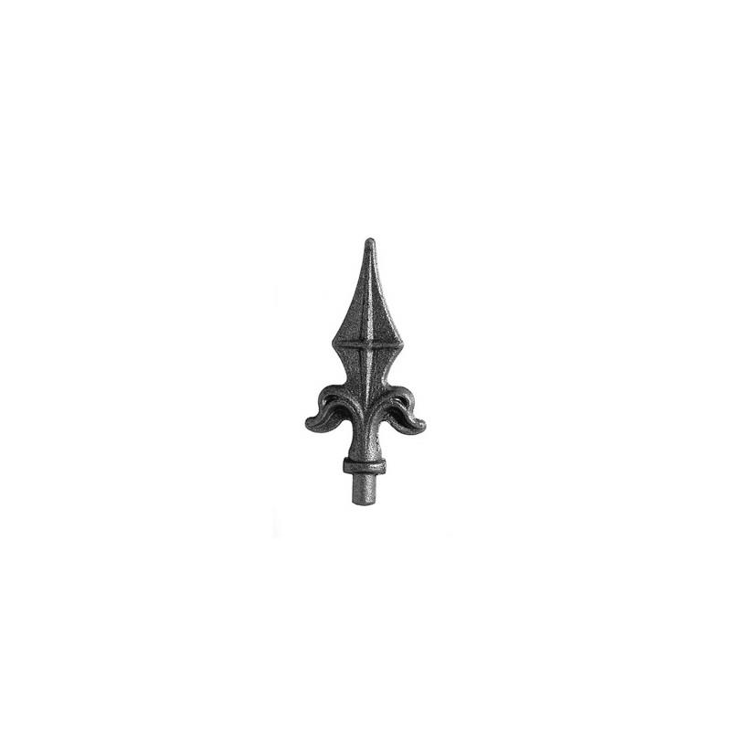 Pointe de lance acier avec tige à souder H. 130 mm