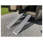 Rampe de chargement 1m50 Droit Aluminium pour remorque - Charge Max. 500 kg