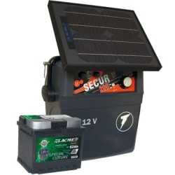 Electrificateur Solaire LACME SECUR STAR 10W+ACCU 62 AH