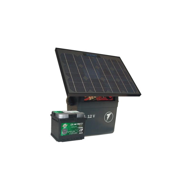 Electrificateur Solaire LACME SECUR SUN+25W+ACCU 62 AH