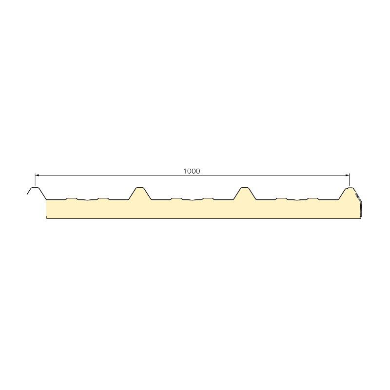 Panneau Sandwich 5m10 ECO 30 mm + Sous Face Aluminium  Gris Anthracite RAL 7016