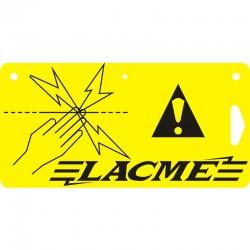 Plaque signalétique pour clôture électrique - LACME