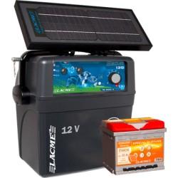 Electrificateur Solaire LACME SECUR ZENITH 7,2W+ACCU 50 AH