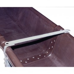 Barre anti-chute pour auge PE