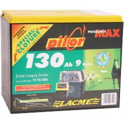 PILE PILOR LACME 9V - 130 Ah Alcaline pour électrificateur de clôture