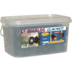 Isolateur clôture IVABLOC - Seau de 50 - LACME