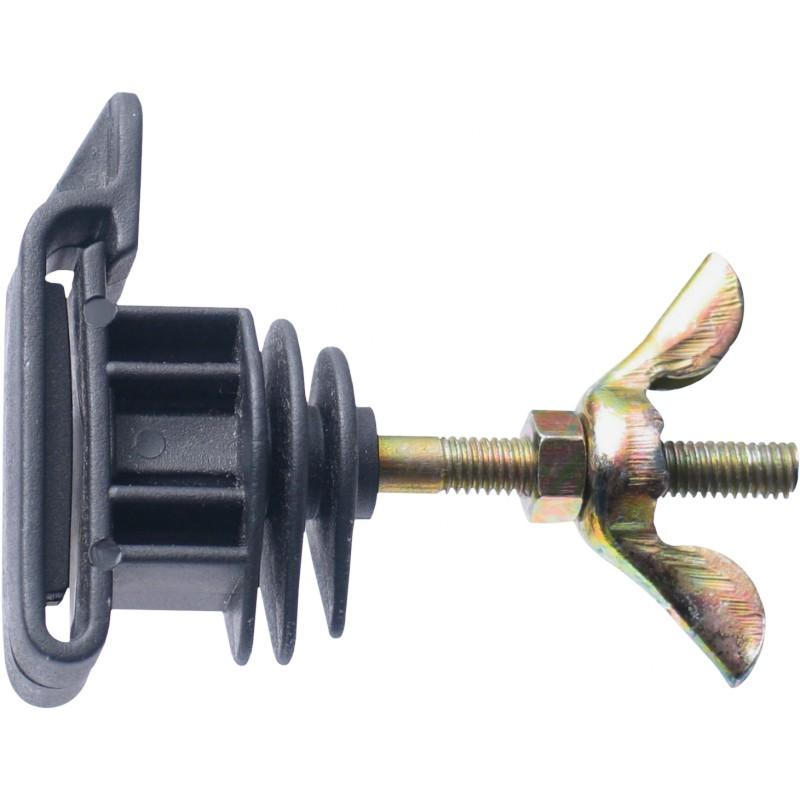 Isolateur piquets en métal et PFV LACME -   IRUTIGE pour clôture électrique