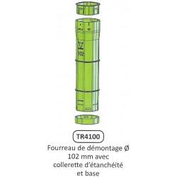 Fourreau de démontage Vert pour poteau trèfle D.102 MM JOURDAIN