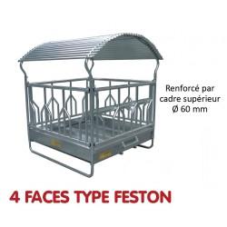 RATELIER 4 FACES TYPE FESTON pour Bovins - JOURDAIN
