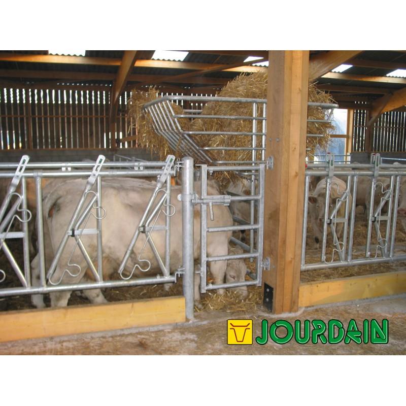 Portillon galvanis 5 lisses extensible 60 100 cm marque for Porte extensible 60 cm