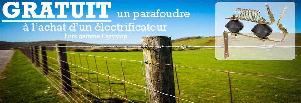 Un parafoudre GRATUIT à l'achat d'un électrificateur (hors gamme Easystop)